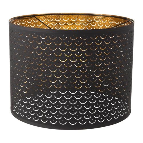 Nym 214 Lamp Shade Black Brass Colour 44 Cm Ikea