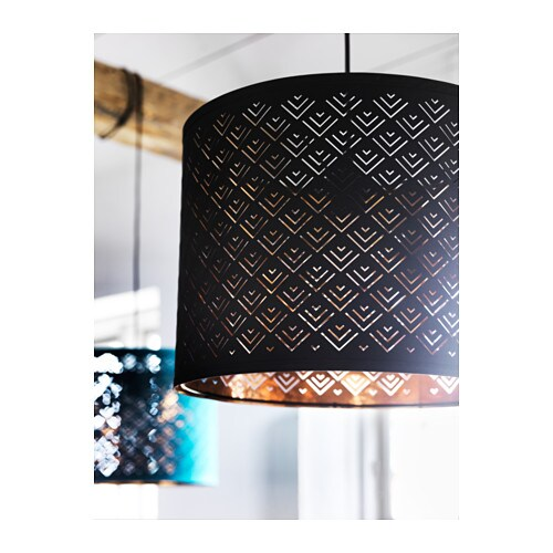 Nym lamp shade black copper colour 37 cm ikea - Abat jour rouge ikea ...