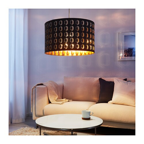 nym lamp shade black copper colour 59 cm ikea. Black Bedroom Furniture Sets. Home Design Ideas