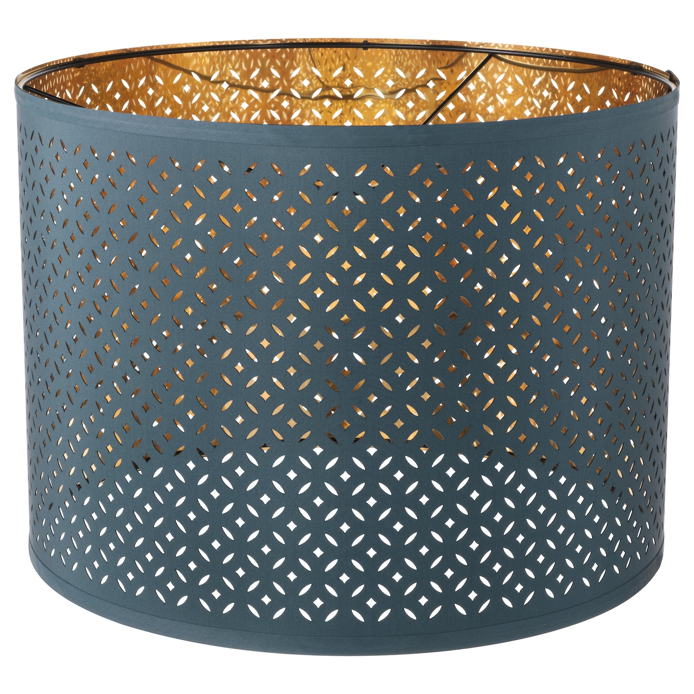 nym lamp shade blue brass colour 44 cm ikea. Black Bedroom Furniture Sets. Home Design Ideas