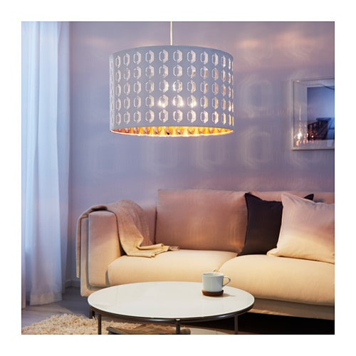 nym lamp shade white copper colour 59 cm ikea. Black Bedroom Furniture Sets. Home Design Ideas