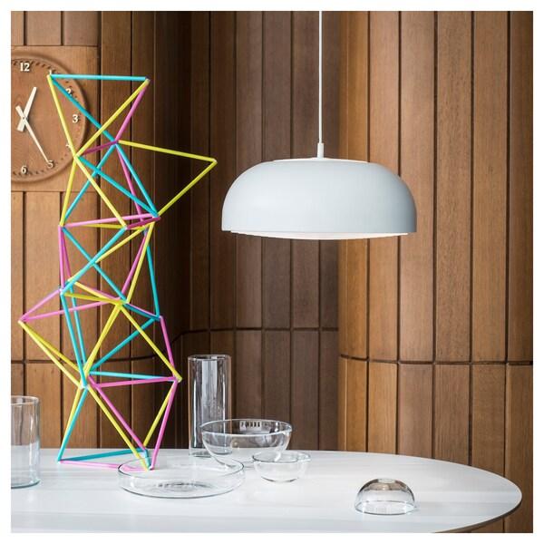 NYMÅNE pendant lamp white 13 W 40 cm 1.6 m