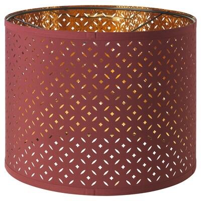 NYMÖ Lamp shade, dark red/brass-colour, 32 cm