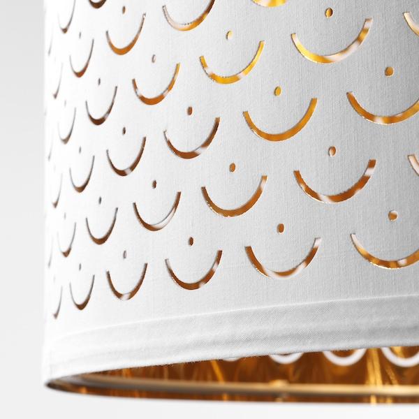 NYMÖ Lamp shade, white/brass-colour, 24 cm