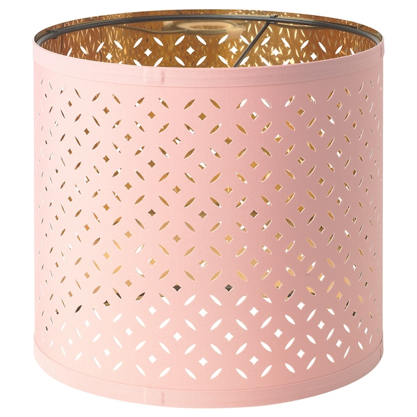 Lamp Shade Nymo Pink Brass Colour