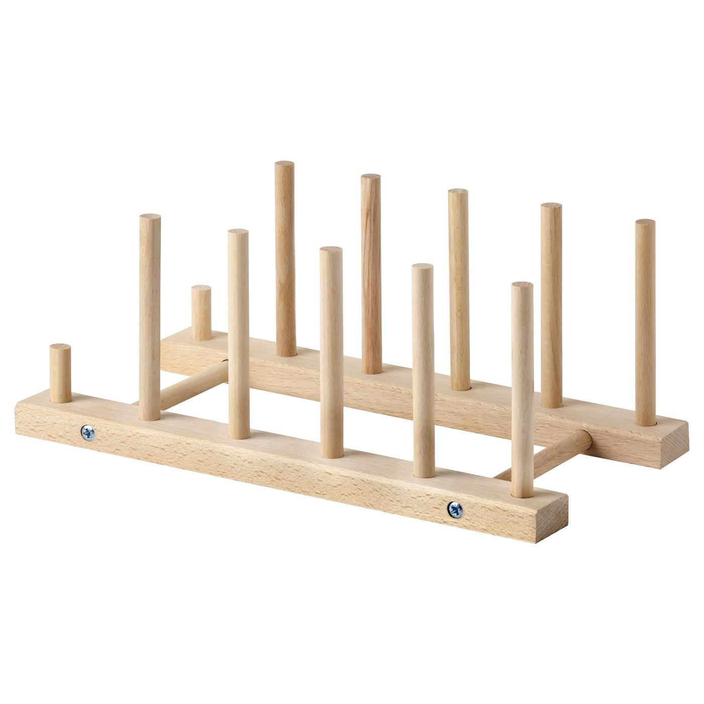 Nyplockad plate holder beech ikea for Ikea plate storage