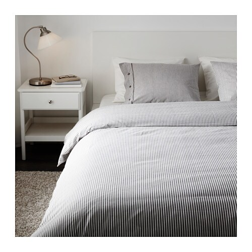 nyponros quilt cover and 4 pillowcases grey 200x200 50x80 cm ikea. Black Bedroom Furniture Sets. Home Design Ideas