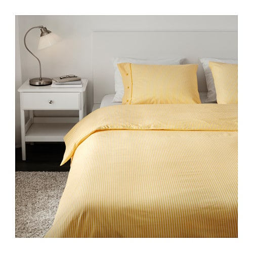 nyponros quilt cover and 4 pillowcases yellow 240x220 50x80 cm ikea. Black Bedroom Furniture Sets. Home Design Ideas