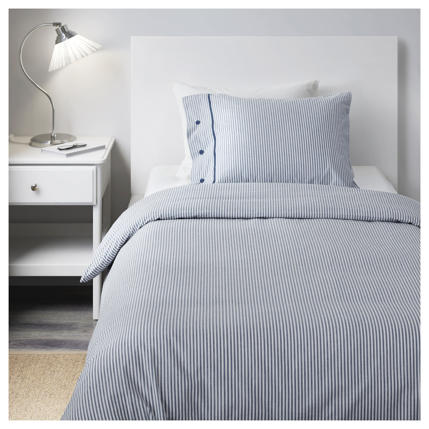 NYPONROS Quilt cover and pillowcase White/blue 150x200/50x80 cm - IKEA : ikea quilt - Adamdwight.com