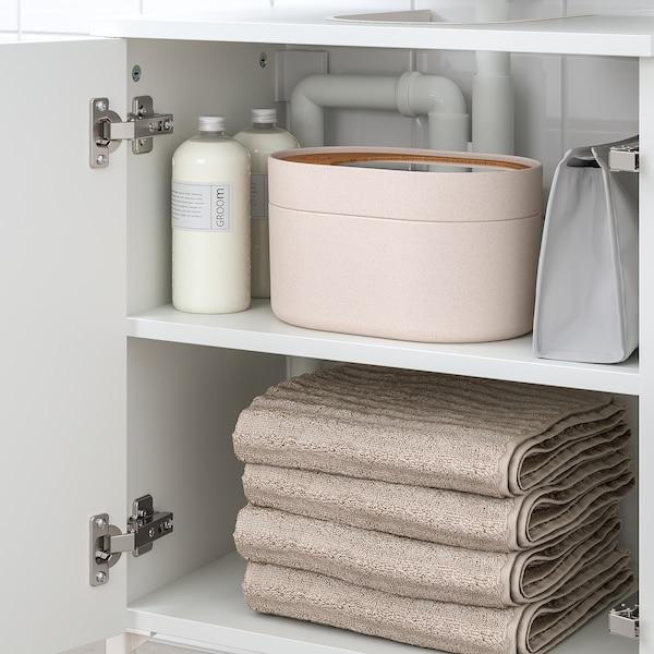 NYSJÖN Wash-basin base cabinet w 2 doors, white, 50x65 cm