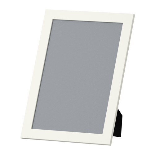 NYTTJA Frame IKEA Fits A4 size pictures.  Front protection in durable plastic makes the frame safer to use.