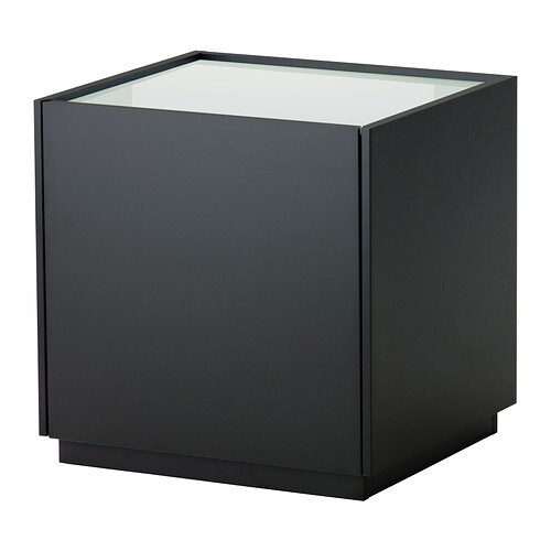 NYVOLL Bedside table IKEA Drawer with integrated damper that catches the running drawer so that it closes slowly, silently and softly.