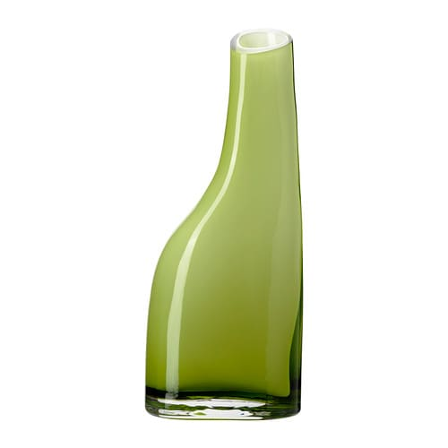 OCKSÅ Vase IKEA The glass vase is mouth blown by a skilled craftsperson.