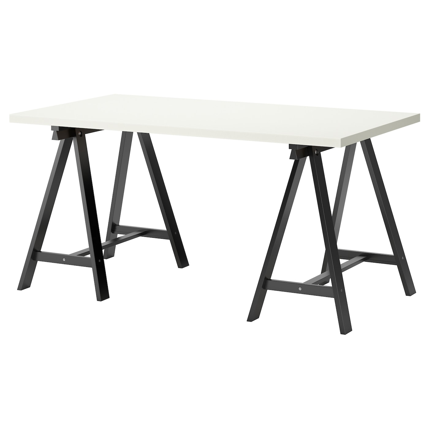 oddvald linnmon table white black 150 x 75 cm ikea. Black Bedroom Furniture Sets. Home Design Ideas