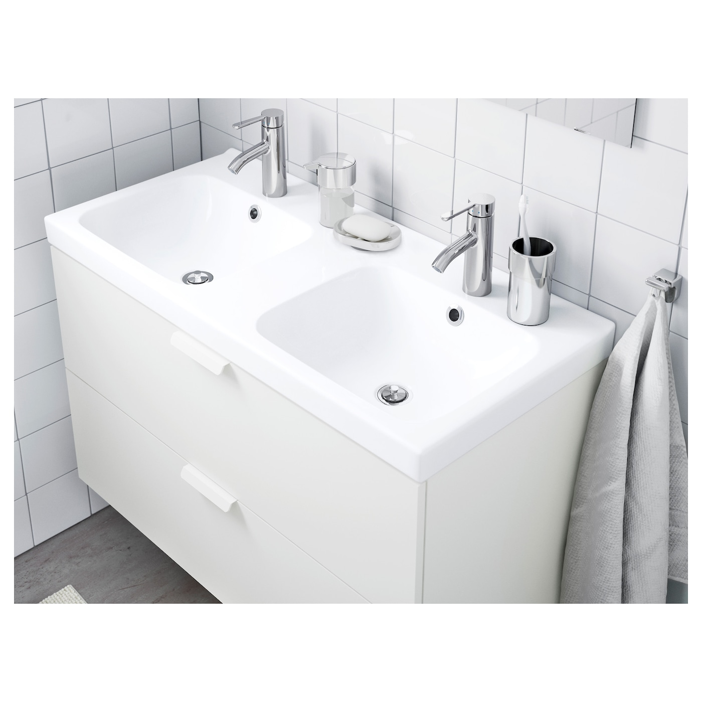 IKEA ODENSVIK double wash-basin 10 year guarantee. Read about the terms in the guarantee brochure.