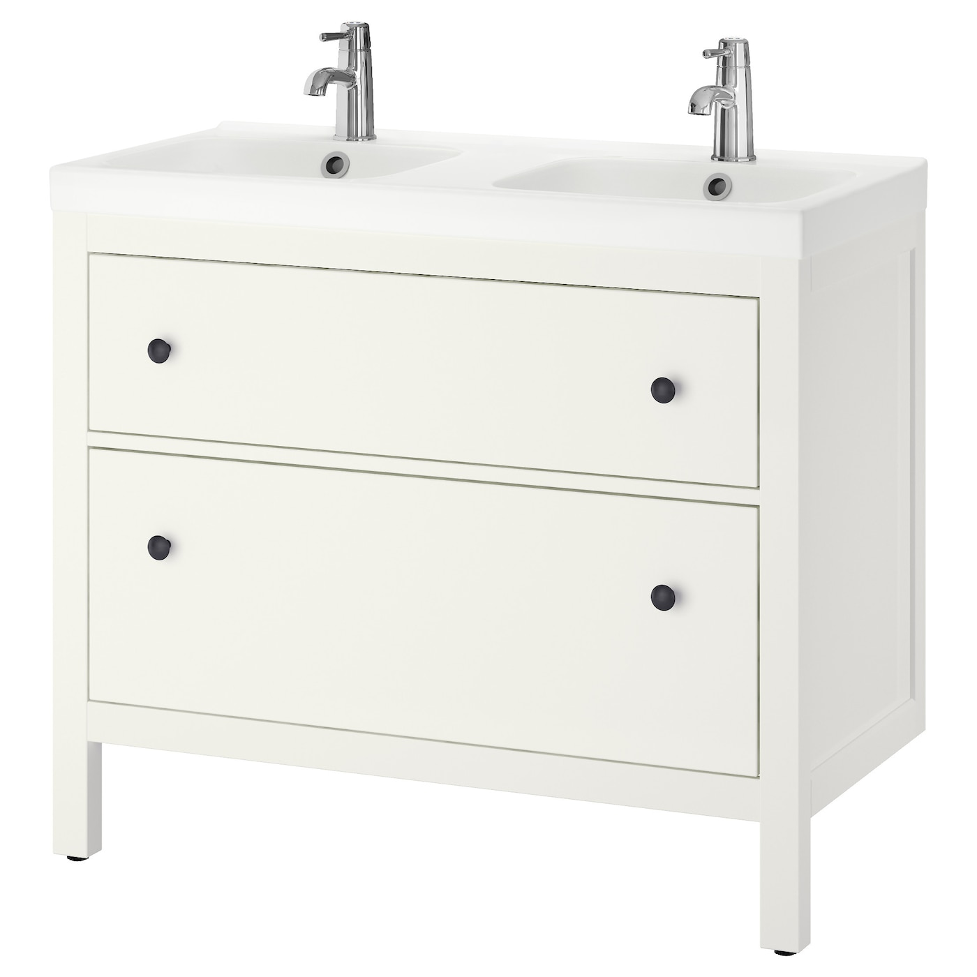 odensvik hemnes wash stand with 2 drawers white 100x49x89. Black Bedroom Furniture Sets. Home Design Ideas