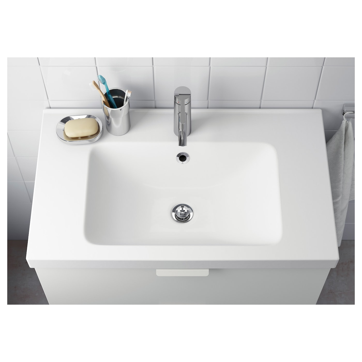 IKEA ODENSVIK single wash-basin 10 year guarantee. Read about the terms in the guarantee brochure.