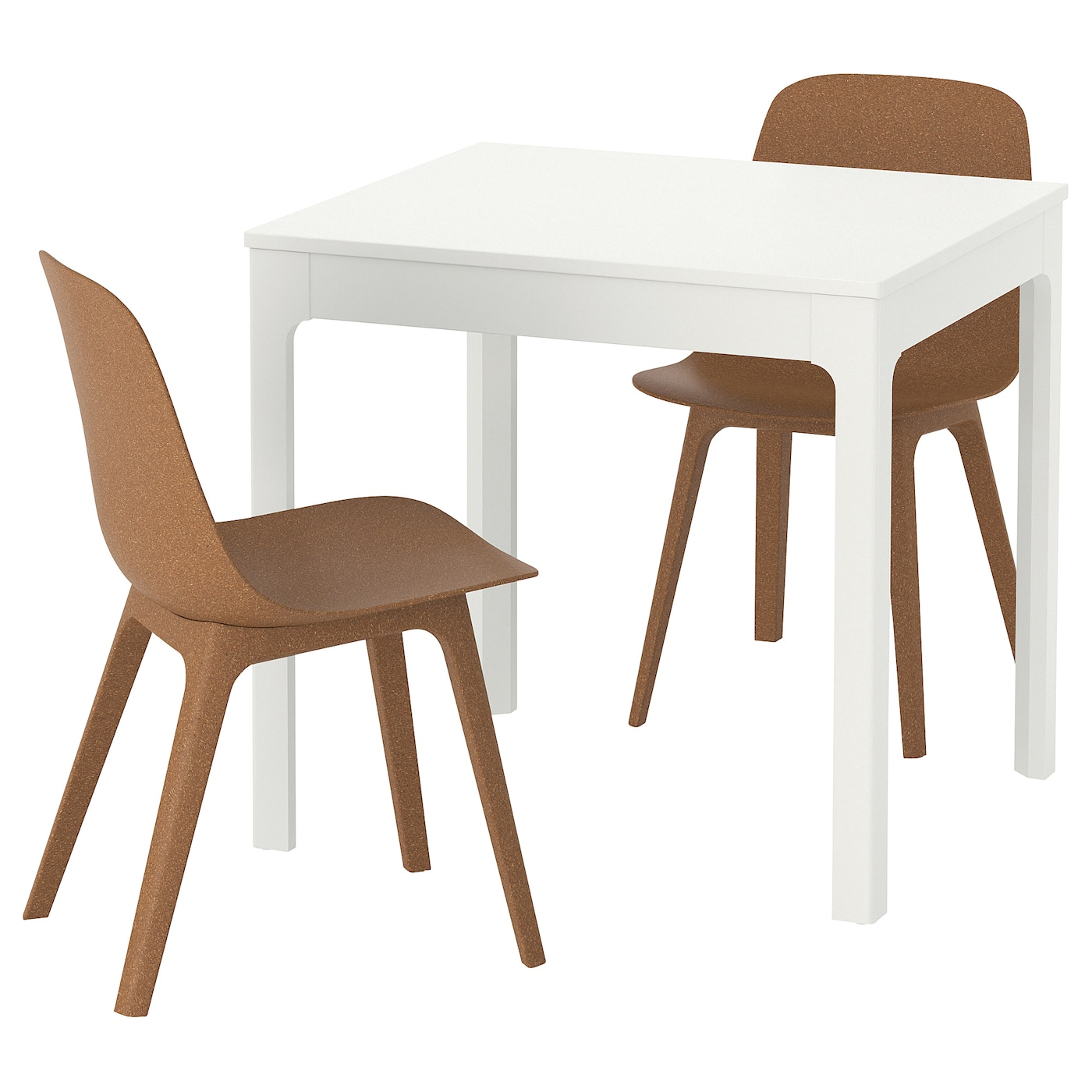 IKEA ODGER/EKEDALEN table and 2 chairs Can be easily extended by one person.