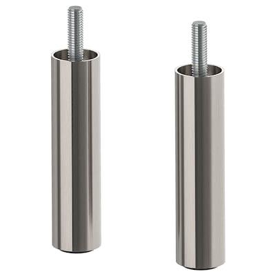 ÖSARP Leg, stainless steel colour, 10 cm