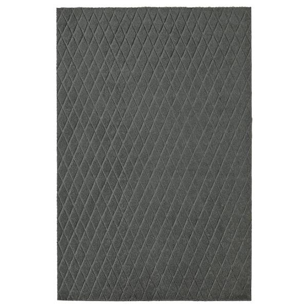 ÖSTERILD Door mat, indoor, dark grey, 60x90 cm