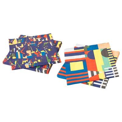 ÖVERALLT Paper napkin, assorted patterns, 33x33 cm