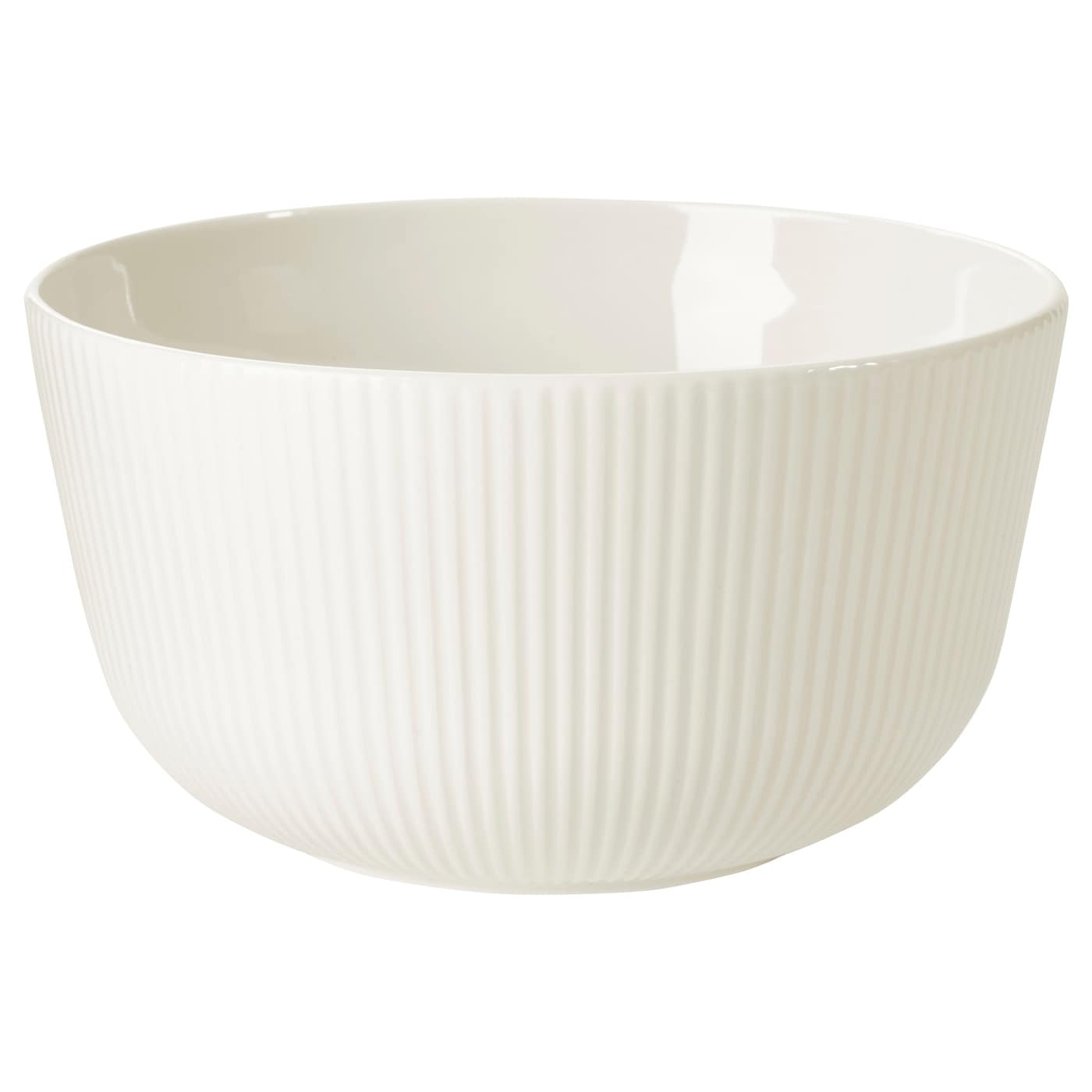 IKEA OFANTLIGT bowl Made of feldspar porcelain, which makes the bowl impact resistant and durable.