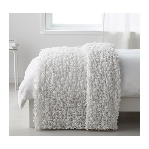 OFELIA Blanket IKEA Fits beds up to 180 cm wide since the blanket is stretchable.