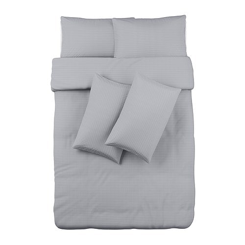 OFELIA VASS Quilt cover and 4 pillowcases IKEA Bedlinen densely woven from fine yarn; soft and durable quality.