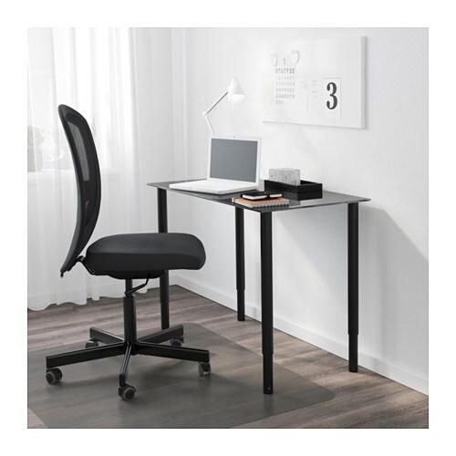 Ikea Aneboda Three Drawer Dresser ~ Leg, adjustable OLOV Black