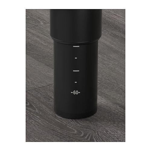 Kitchen Island Dishwasher Ikea ~ Leg, adjustable OLOV Black