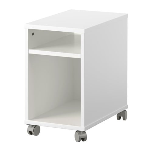 IKEA OLTEDAL bedside table Room on the shelf for an extension socket for your charger.