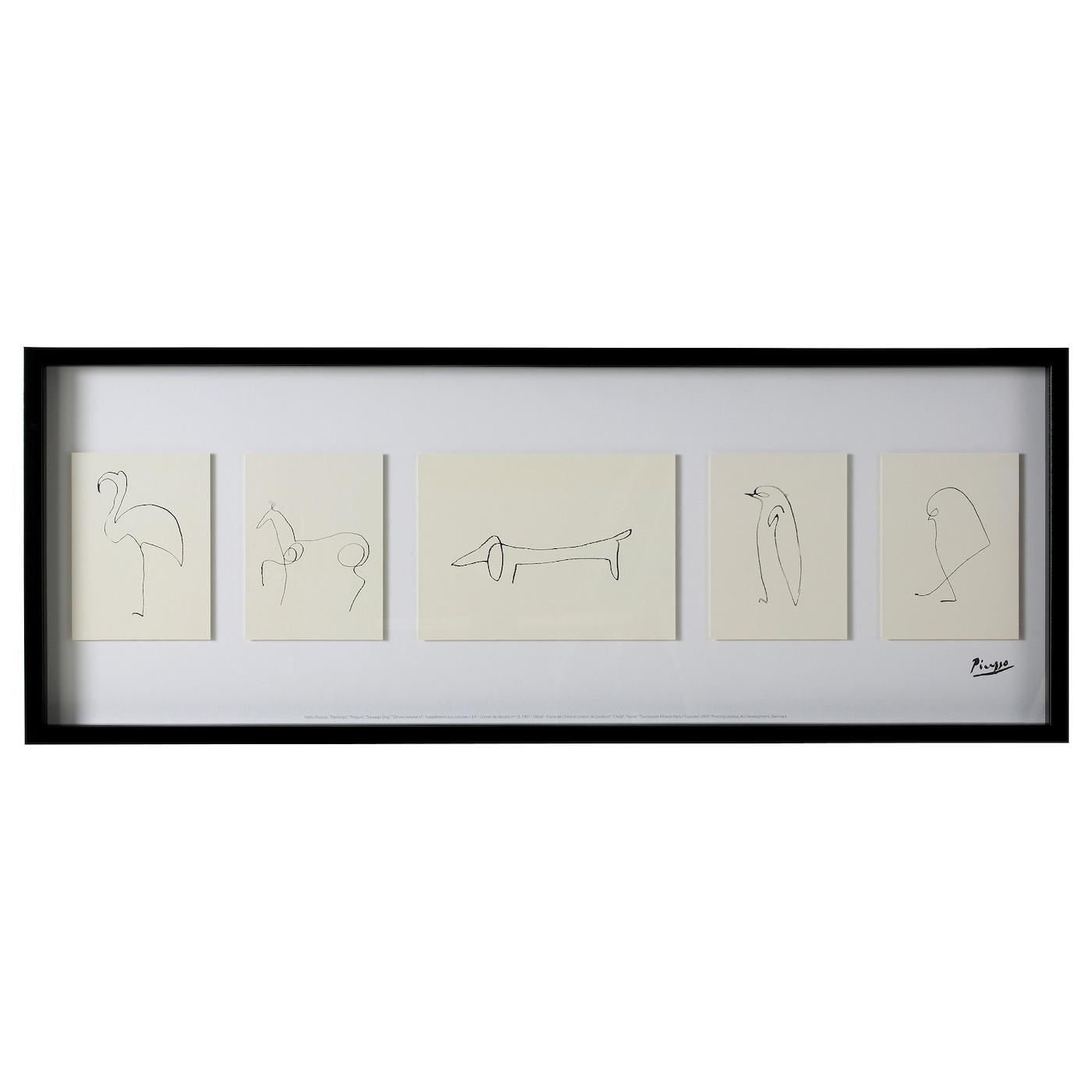 olunda picture sketches 103x39 cm ikea