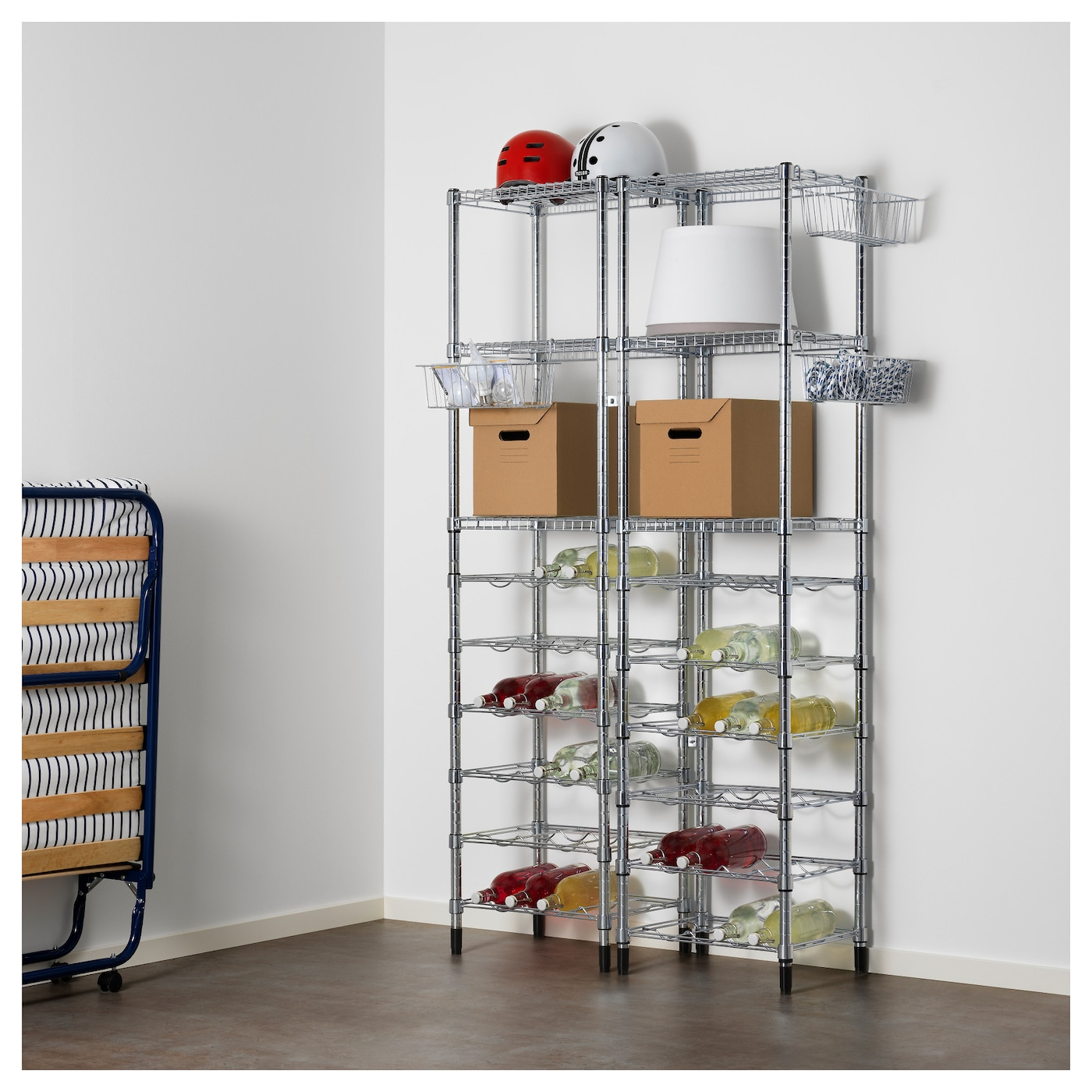 IKEA OMAR 2 shelf sections Easy to assemble – no tools required.