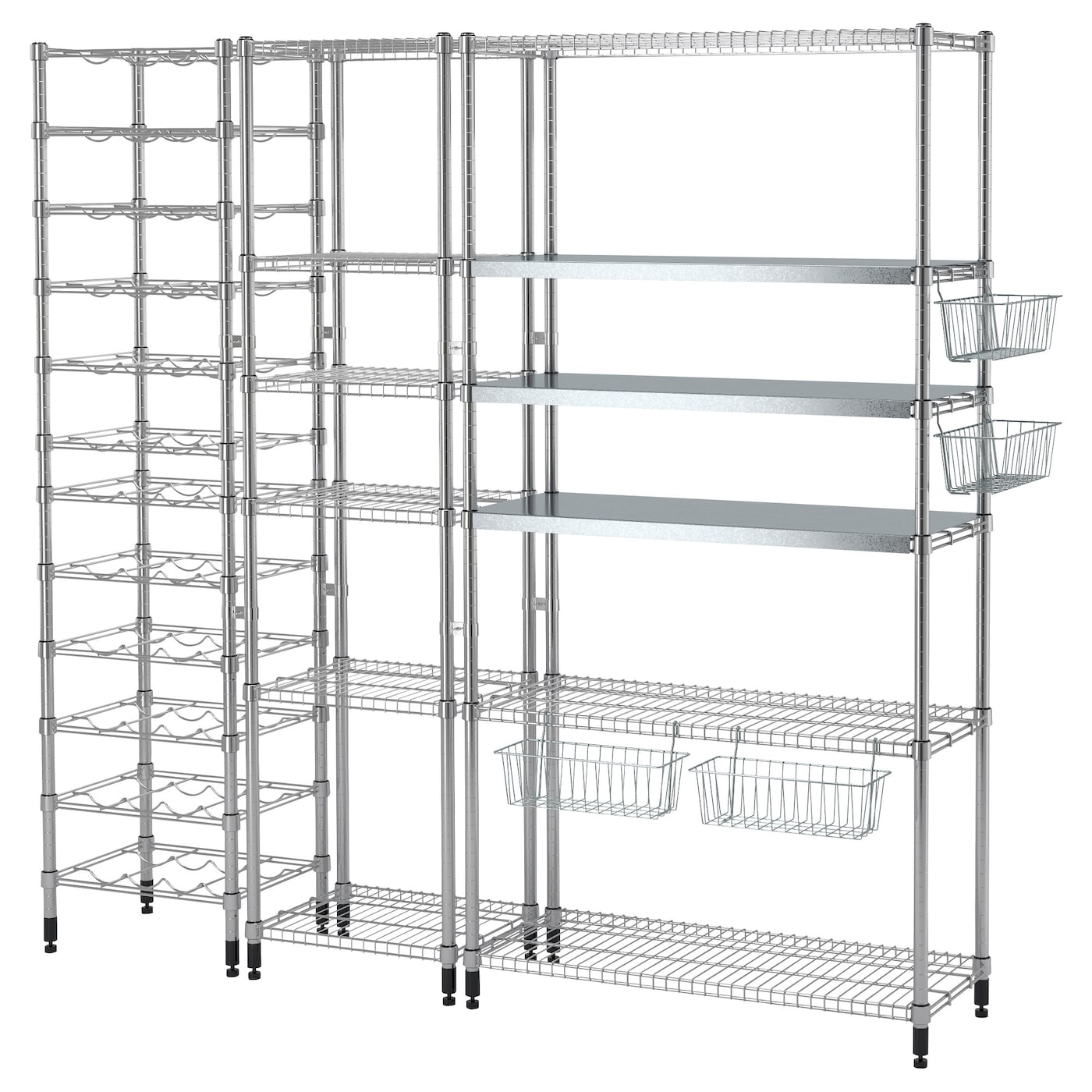 IKEA OMAR 3 shelf sections Easy to assemble – no tools required.