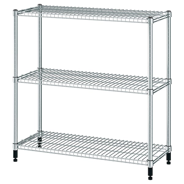 OMAR Shelving unit, galvanised, 92x36x94 cm