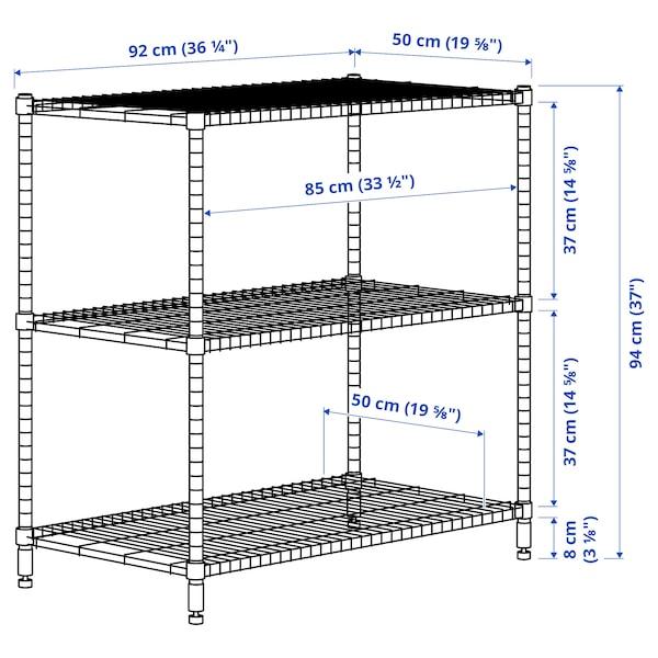 OMAR Shelving unit, galvanised, 92x50x94 cm