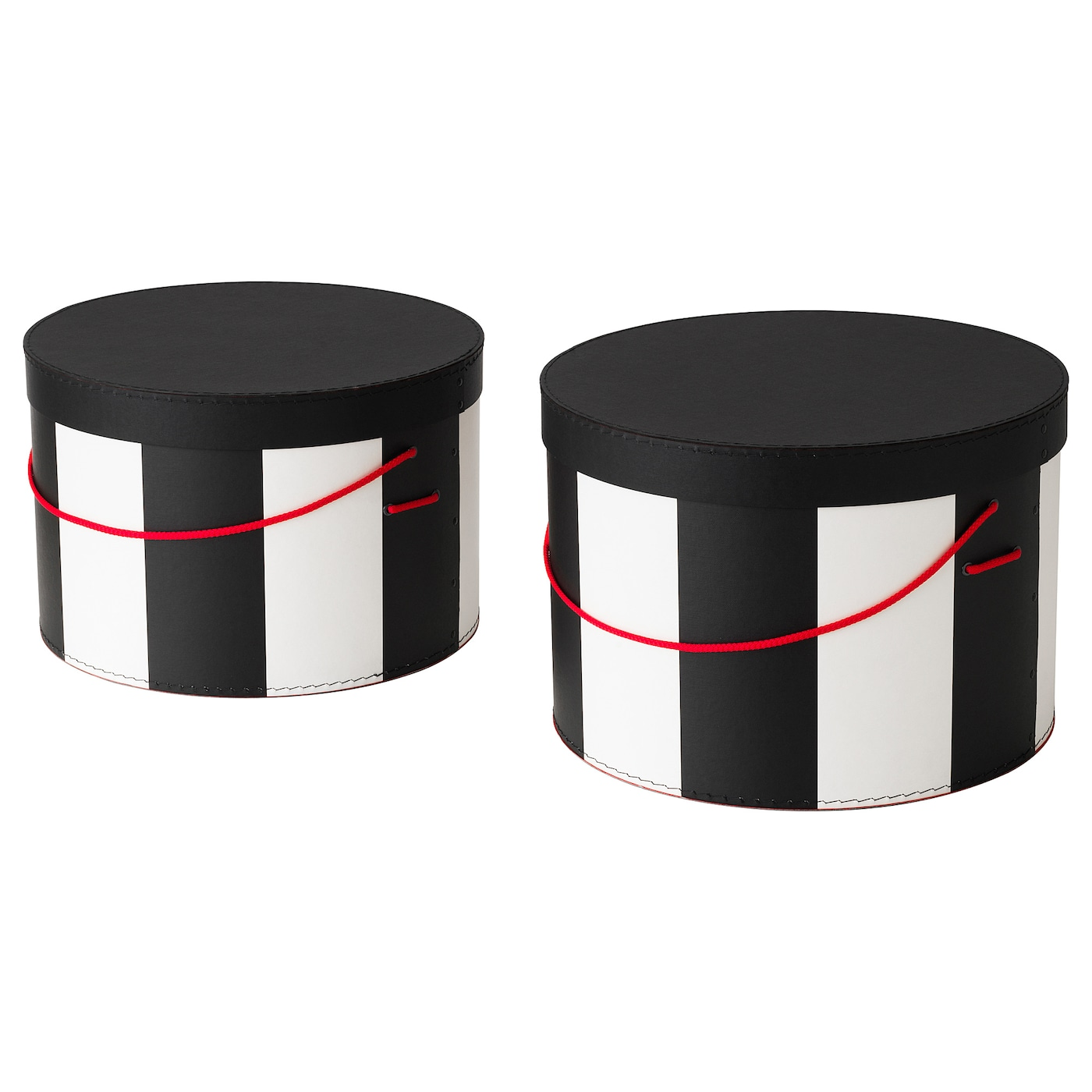 omedelbar box with lid set of 2 black white ikea. Black Bedroom Furniture Sets. Home Design Ideas