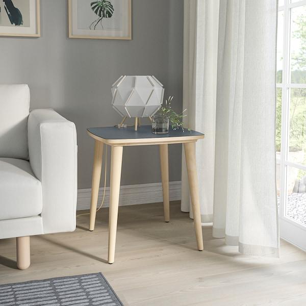 OMTÄNKSAM Side table, anthracite/birch, 55x55 cm