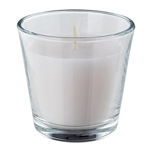 IKEA OMTALAD scented candle in glass