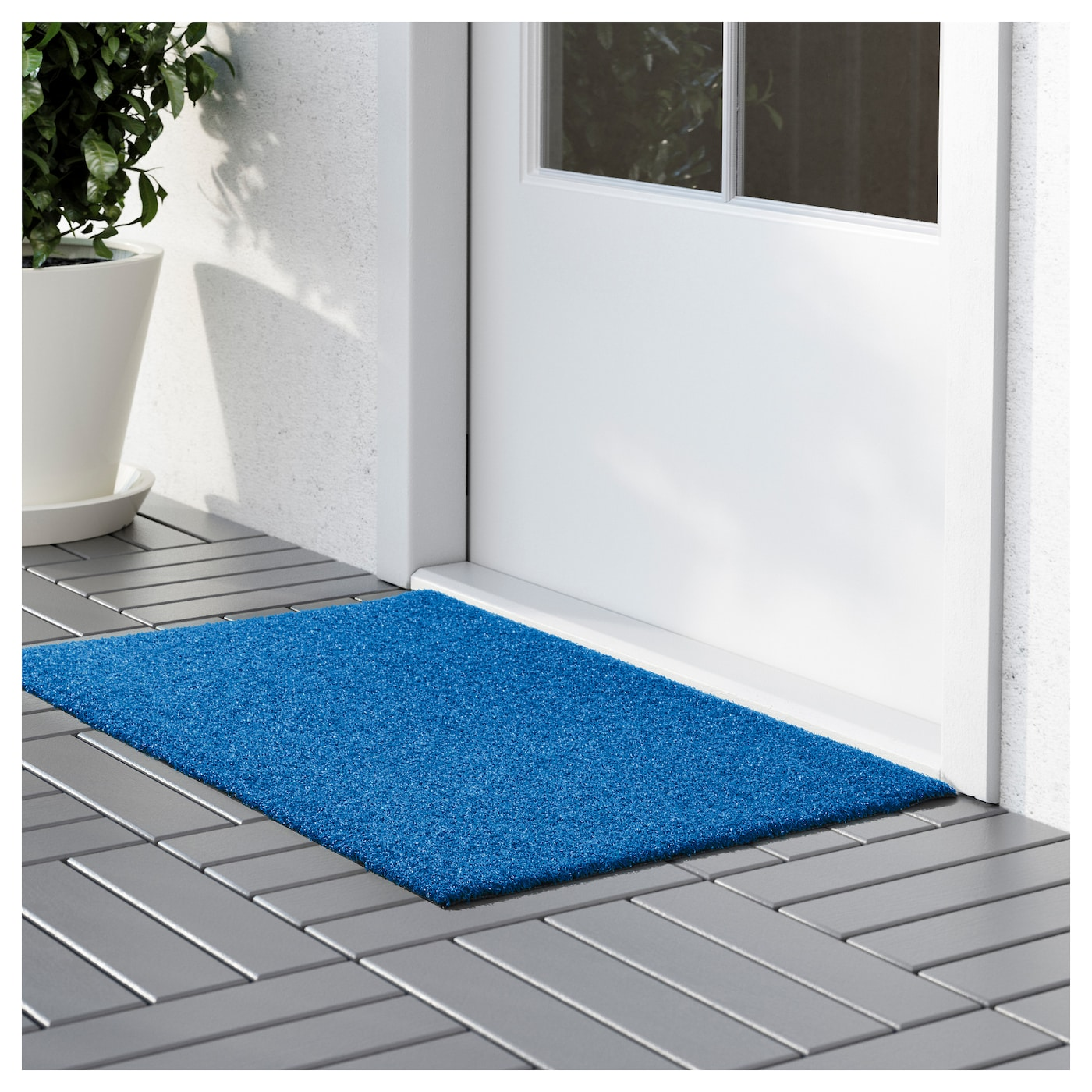 oplev door mat in outdoor blue 50x80 cm ikea. Black Bedroom Furniture Sets. Home Design Ideas