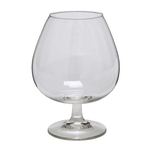 IKEA OPTIMAL brandy bowl Extra large cup retains the aroma well.
