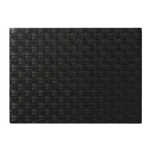 ordentlig place mat black 46 x 33 cm ikea. Black Bedroom Furniture Sets. Home Design Ideas