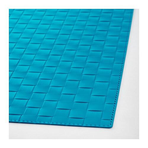 ordentlig place mat turquoise 45x32 cm ikea