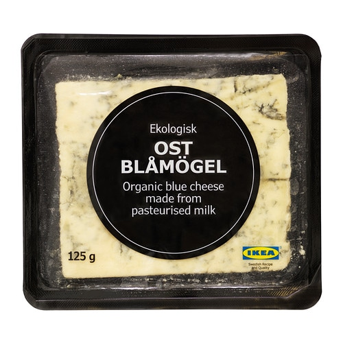 OST BLÅMÖGEL Blue cheese IKEA Milky sweetness balanced with distinct notes of salt for a round yet rich and piquant taste.