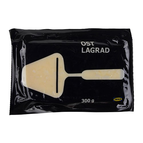 OST LAGRAD Semi-hard cheese IKEA A ripe cheese with a rich and strong flavour.   Serve on sandwiches, crispbread or crackers.