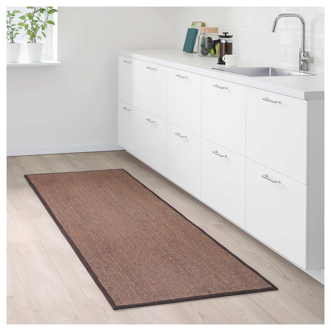 Ikea Rug Felt: OSTED Rug, Flatwoven Brown 80x240 Cm