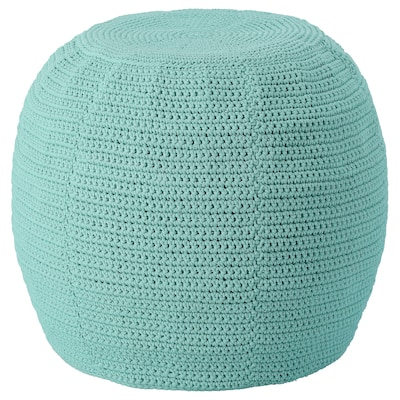 OTTERÖN / INNERSKÄR Pouffe, in/outdoor, light turquoise, 48 cm