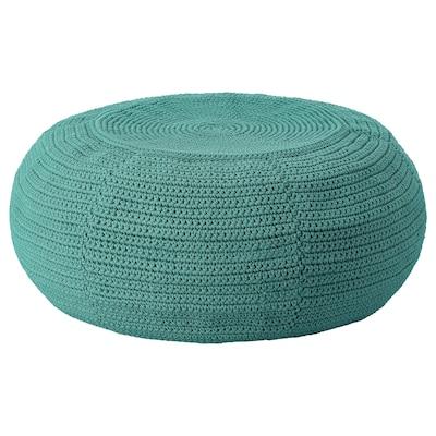 OTTERÖN Pouffe cover, in/outdoor, dark green, 58 cm