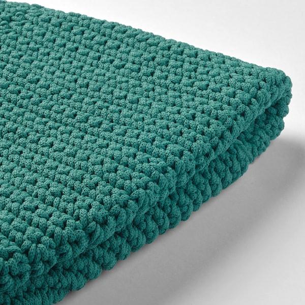 OTTERÖN pouffe cover, in/outdoor dark green 24 cm 58 cm