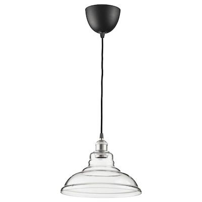 OVANBY Pendant lamp, transparent glass, 30 cm